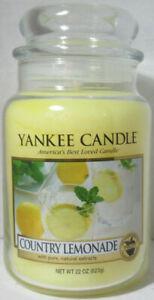Yankee Candle Large Jar Candle 110-150 hrs 22 oz COUNTRY LEMONADE  Fruit