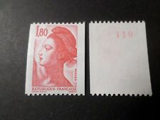 FRANCE 1982, timbre 2223a, type ROULETTE n° ROUGE LIBERTE, neuf** MNH STAMP