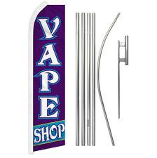 Vape Shop Swooper Flutter Feather Advertising Flag Pole Kit Smoke Shope