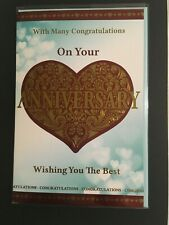Wedding Anniversary Card & Envelope. FREE DELIVERY.