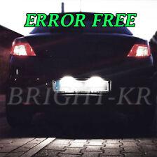 OPEL Astra H Corsa D brillante LED Blanco Bombillas De Matrícula Luces-Libre De Errores