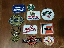 Vintage advertising Embroidered patch badge harley honda bandit chevrolet...