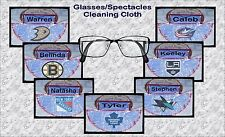 PERSONALISED ICE HOCKEY GLASS/SPECTACLES/PHONE CLEANING CLOTH GIFT IDEA