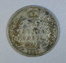 INDIA BRITISH 1 Rupee 1907 - Silver - Edward VII #2