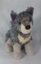 "Douglas Cuddle Toy Gray & White Dog By Douglas.  10"".  K2"