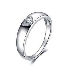 SchmuckPalace Herz Liebe Zirkonia Ehering Ring 925 Sterling Silber