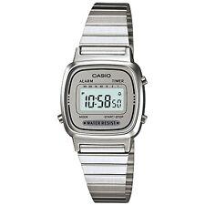 Casio Ladies Digital Watch, Silver & Grey, LA670WA-7DF