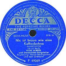 Hans Albers - Nic ist braun wie eine Kaffeebohne / Kleine Nordseeschwalbe - 1952