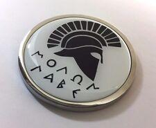 "MOLON LABE 3D Domed Emblem Badge Car Sticker METAL Chrome Bezel ROUND 3 3/8"""