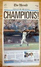 BEST 1997 Miami newspaper FLORIDA MARLINS WIN baseball WORLD SERIES vs Cleveland