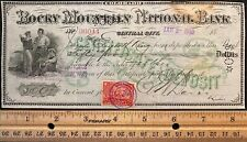 1900  ROCKY MOUNTAIN NATIONAL BANK $50 CERTIFICATE OF DEPOSIT+VIGNETTE+SC# R164!