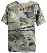 UA Youth Heatgear Scent Control Short Sleeve Barren Camo T-Shirt Under Armour