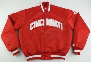 Vintage Starter MLB Cincinnati Reds Button UP Satin Jacket Size Men's Large L