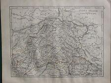1900 VICTORIAN MAP ~ INDIA NORTH ~ KASHMIR NEPAL BALUCHISTAN LAHORE GARHWAL