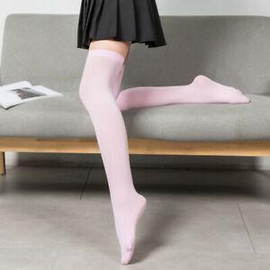 Women Girls Fashion Japanese School Socks Opaque Over Knee Thigh High Stockings