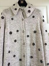 CHANEL 16A NEW Tweed Cashmere Beige Multicolor Jacket Grommets FR38-36 $7K