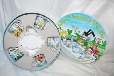 Nib Alice In Wonderland Paul Cardew 2010 Teaparty Set Cups & Saucers New In Box