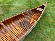 Old Town Canoe Seat Back Vintage Backrest Back Extra Seat Wood Cane