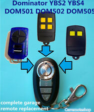 Dominator YBS2 YBS4 DOM501 DOM502 DOM505 Garage Door Roller Remote Replacement