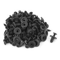 50pcs 6mm Plastic Push Type Rivet Bumper Pin Clips SH V3U8