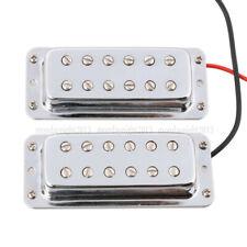 Mini Humbucker Doble Bobina de recogida cuello Puente de Guitarra para Guitarra LP Cromo