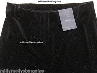 New Womens Marks & Spencer Black Wide Leg Trousers Size 12 8 Medium Leg 30