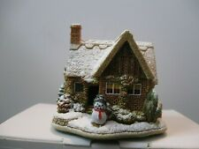 """Lilliput Lane Christmas, Snowed L3227 """"Let It Snow"""" Mint in box with deed."""