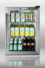 """Summit SCR312L Commercial Counter Top 18"""" Compact Refrigerator Beverage W Lock"""