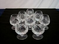 """Set of 8 Gorham Crystal Brandy Snifters. """"Cherrywood"""". 1960-99. Perfect."""