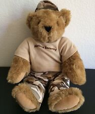 Handmade Vermont Ted Teddy Bear Choco Brown Stuffed Plush Toy Doll Marine Stand