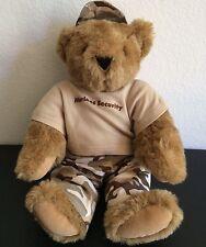Handmade Vermont Ted Teddy Bear Choco Brown Stuffed Plush Toy Doll Marine Stand