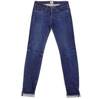 Women's Railcar Fine Goods Raw Denim Selvedge Skinny Jeans Size 27 Measure 31x34