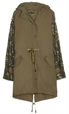 JOIE Tadita Women's Jacket M Army Fatigue Military Embellished Coat $598