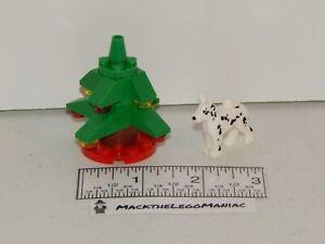 Lego 60024 Advent Calendar 2013 Christmas Tree & Dalmatian Dog Parts Only