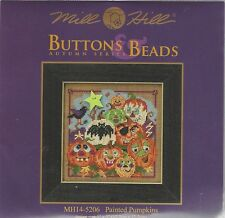 Halloween Painted Pumpkins Mill Hill Beads Cross Stitch Kit