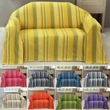 Striped 100% Cotton Decorative Throws