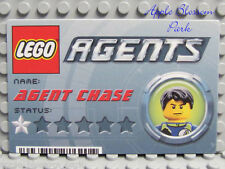 NEW Lego Agents Chase Minifig MISSION CARD -8635 8634 8633 8632- Gr8 for Wallet
