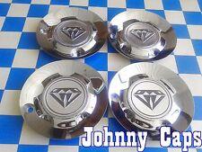 AZEV UNKNOWN Wheels CHROME Center Cap # N/A Custom Wheel Center Caps (SET of 4)