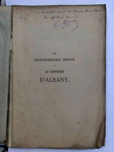 Une correspondance inédite de la Comtesse d'Albany - Tire  100 exemplaire