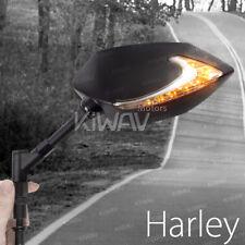 KiWAV Mirrors 2tone LED white amber running blinker for Harley FLHT Electraglide