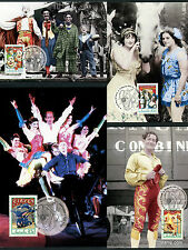 1997 50th Anniversary Circus Maxi Cards Prepaid Postcard Maxicards Stamps