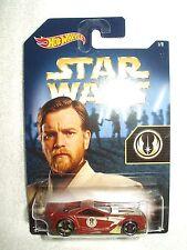 Action Figure Star Wars Hot Wheels Vehicle Car Scorcher Obi Wan Kenobi Jedi