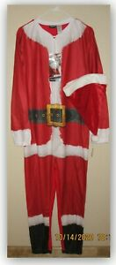 BRIEFLY STATED men's SANTA CLAUS UNIONSUIT w HAT MEDIUM or SMALL