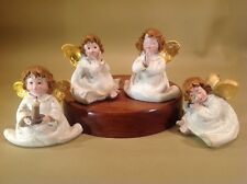 Vintage Little Angles Made In Germany 4 Hand Painted Precious Winged Darlings