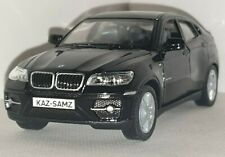 BMW X6  -PANTHER BLACK 1.38 PERSONALISED DIECAST MODEL CAR BIRTHDAY PRESENT GIFT