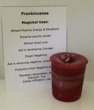 FRANKINCENSE candle - CRYSTAL JOURNEY Candles PSYCHIC POWER Good Luck votive