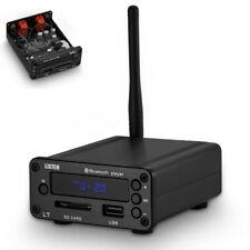 HiFi Bluetooth 5.0 Receiver DAC Stereo Audio Preamp Music Player SD FM Radio USB