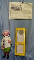 "EX!DISNEY1960's""GEPPETTO"" PELHAM ""SL8 SERIES""BOXED PUPPET SET+ORIG. INSTRUCTIONS"