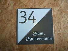 Hausnummer-Schild Wunschtext Neu Acryl weiß ca. 230 x 240 x 5 mm