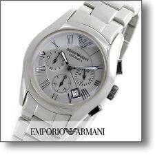 NWT $ 545 EMPORIO ARMANI LADIE'S CHRONOGRAPH CERAMIC WATCH AR1460